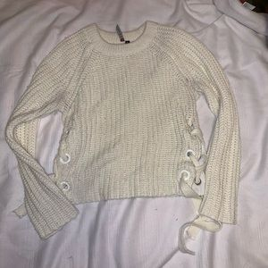 Shirt cropped sweater